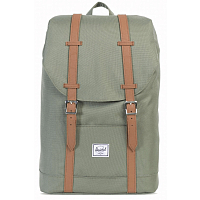 Herschel RETREAT MID-VOLUME Deep Lichen Green/Tan Synthetic Leather
