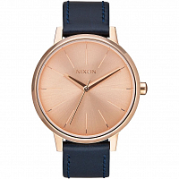 Nixon Kensington Leather ROSE GOLD/NAVY