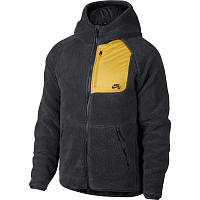 Nike M NK SB EVRT HOODIE FZ SHERPA ANTHRACITE/MINERAL GOLD/ANTHRACITE