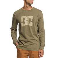 DC STAR LS M TEES BURNT OLIVE