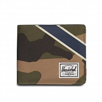 Herschel ROY + COIN XL RFID Woodland Camo/Silver Green/Dark Denim