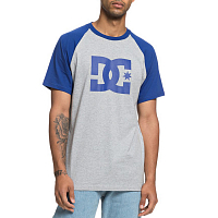 DC STAR SS RAGLAN M TEES SODALITE BLUE/GREY HEATHER