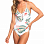 Roxy DR DA RE 1PC J BRIGHT WHITE TROPICAL LOVE SWI