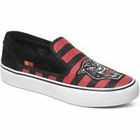 DC TRASE SLIP-ON X J SHOE RED/BLACK