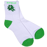 RIPNDIP TUCKED IN SOCKS WHITE / GREEN