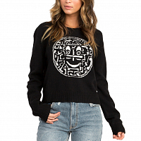 RVCA SMILES SWEATER BLACK