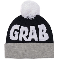 CRABGRAB POM BEANIE Black & Grey