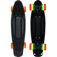 SUNSET SKATEBOARDS BLACK RASTA  COMPLETE 22 TINTED GREY DECK-RASTA WHEELS BLACK MATTE TRUCK