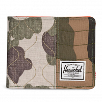 Herschel ROY RFID Woodland Camo/Vermillion Orange/Frog Camo