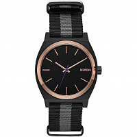 Nixon Time Teller Black/Rose Gold/Charcoal