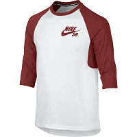 Nike B NK DRY TOP 3QT SLEEVE ICON WHITE/DARK CAYENNE/DARK CAYENNE