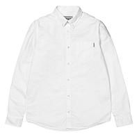 Carhartt L/S BUTTON DOWN POCKET SHIRT White