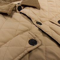 Saga QUILTED BUTTON-UP KHAKI
