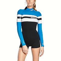 Glidesoul SPRING SUIT 2 MM WITH SHORTS BACK ZIP BLACK/BLUE/WHITE
