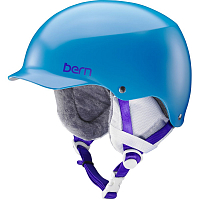 Bern TEAM MUSE Satin Ocean Blue w/White Cordova Earlaps