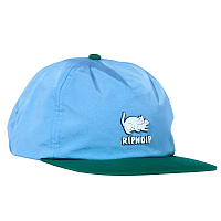 RIPNDIP TWO NERMS POLY 5 PANEL ROPE HAT BLUE / GREEN