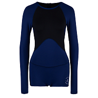 FOLLOW LADIES LYCRA L/S SPRINGY NAVY/BLACK