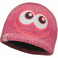 Buff CHILD KNITTED & POLAR HAT Monster Merry Pink/Raspberry