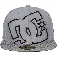 DC COVERAGE M HATS Pewter