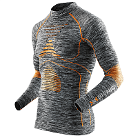 X-Bionic EVO MELANGE UW SHIRT LG_SL.TURTLE NECK Grey Melange/Orange