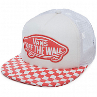 Vans BEACH GIRL TRUCKER HAT SPICED CORAL CHECKERBOARD