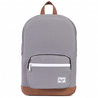 Herschel POP QUIZ MID-VOLUME GREY/TAN SYNTHETIC LEATHER