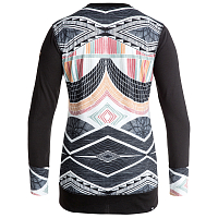 Roxy DAYBREAK TOP J BDYW TRUE BLACK_POP SNOW LINES