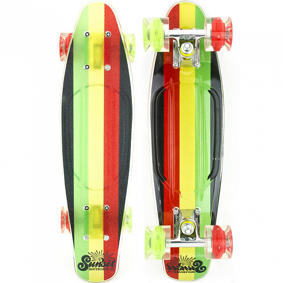 КОМПЛЕКТ СКЕЙТБОРД SUNSET SKATEBOARDS RASTA GRIP COMPLETE 22 SS15 от SUNSET SKATEBOARDS в интернет магазине www.traektoria.ru - 1 фото