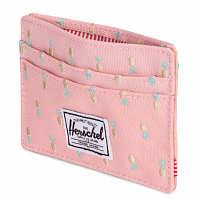 Herschel CHARLIE RFID PEACH PINEAPPLE EMBROIDERY