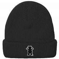 Grizzly OG BEAR PATCH FOLD BEANIE BLACK