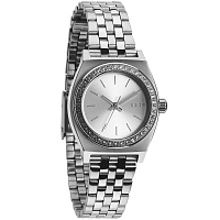 Nixon Small Time Teller ALL SILVER CRYSTAL