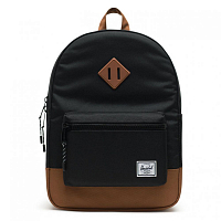 Herschel HERITAGE YOUTH Black/Saddle Brown