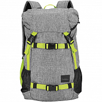 Nixon LANDLOCK BACKPACK SE Heather Gray/Lime