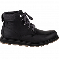SOREL MADSON MOC TOE WATERPROOF Black, Dark Gre