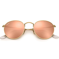 Ray Ban ROUND METAL SHINY GOLD/COPPER FLASH