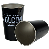 Mizu VOLCOM PARTY CUP SET (2) SERUM Glossy Black w/ White Print