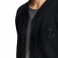 Makia ANCHOR KNIT CARDIGAN BLACK