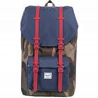 Herschel Little America Woodland Camo/Navy/Red Rubber