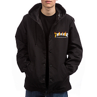 Thrasher FLAME MAG COACH JACKET BLACK