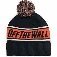 Vans OFF THE WALL POM BEANIE BLACK-CHILI PEPPER