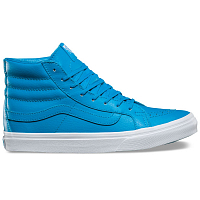 Vans UA SK8-HI SLIM (NEON LEATHER) NEON BLUE/TRUE WHITE