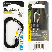 NITEIZE CARABINER SLIDELOCK 4 BLACK