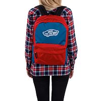 Vans REALM BACKPACK BLUE SAPPHIRE-TANGO RED