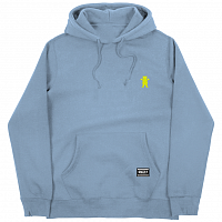 Grizzly OG BEAR EMBROIDERED HOODIE Baby Blue / Neon Yellow