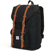 Herschel Little America Mid-Volume Black/Tan Synthetic Leather