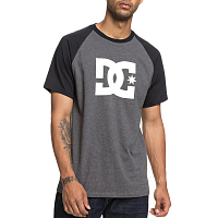 DC STAR SS RAGLAN M TEES BLACK/ CHARCOAL HEATHER