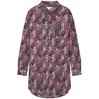 ENGINEERED GARMENTS ROUNDED COLLAR SHIRT NAVY/PINK SMALL FLORAL PRINTED LAWN