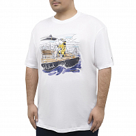 Paul & Shark T-SHIRT WITH SHARK DRAWING White