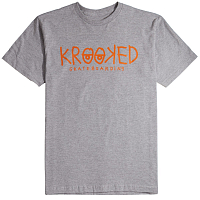 Krooked S/S KRKED EYES ASH HTR/RD