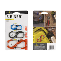 Nite Ize S-BINER SLIDELOCK ALUMINUM COMBO 3 PACK ASSORTED